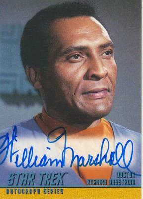 STAR TREK THE ORIGINAL SERIES Autograph A56 William Marshall as Dr Daystrom