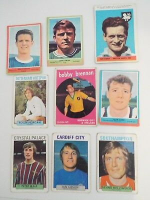 A&BC Cards Footballers Mixed Cards x 9 Cards See Picture Lot 24