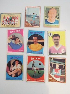 A&BC Cards Footballers Mixed Cards x 9 Cards See Picture Lot 27