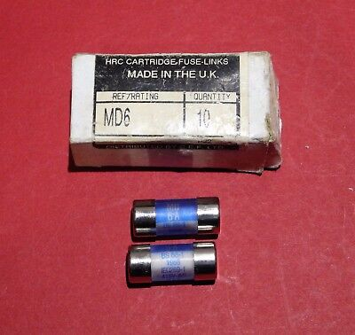 Lawson MD6 amp HRC LAWSON FUSES 6 AMP 6amp Fuse New Bs 88-1
