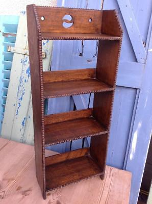 Antique Liberty & Co Arts And Crafts Small Oak Bookcase Pierced Yin Yang v.Chic