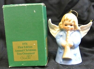 1976 Goebel Hummel Annual Christmas Bell Ornament First Edition with Box