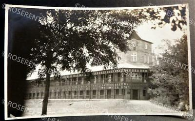 c1900s China - a European Style Building with Clock - original Photo 14 by 8.5cm