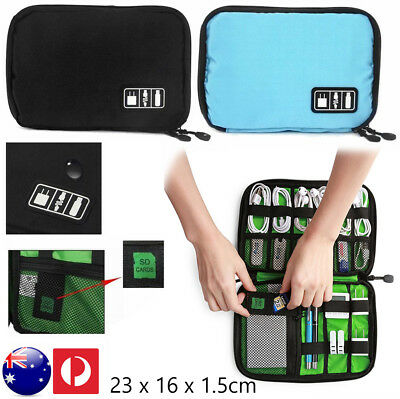 Electronic Accessories Storage Organizer Bag Case USB Cable Drive Card Travel