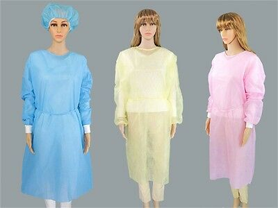 Disposable Medical Clean Laboratory Isolation Cover Gown Surgical Clot LA