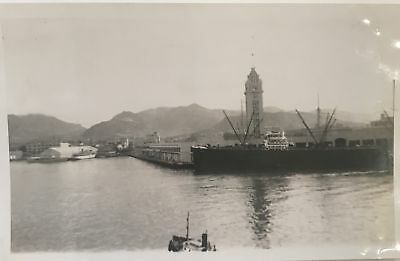1938 Vintage Photograph Of Passenger Arriving On S.S. Lurine's View Oahu Hawaii