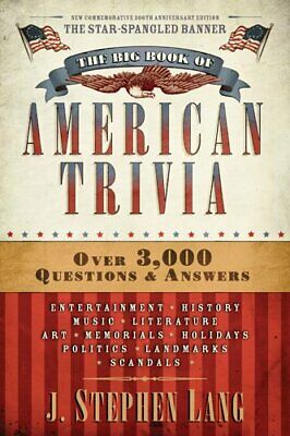 The Big Book of American Trivia Rev Ed PB by Lang Stephen Book The Cheap Fast