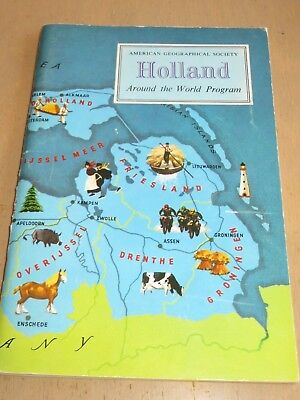 1971 HOLLAND American Geographical Society Kid's Booklet w Stickers Unused