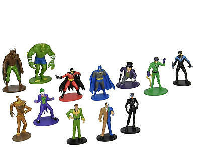 Set of 12 Batman and Villains Cake Toppers Cupcake Toppers Party Decorations