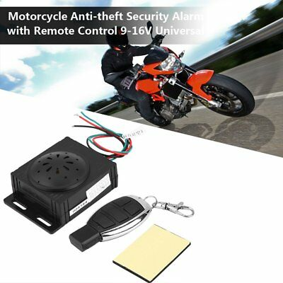 Motorcycle Alarm System Anti-theft Security With Remote Engine Start Immobiliser
