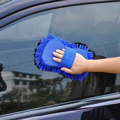 Car Wash Auto Hand Towel Microfiber Washing Gloves Coral Cleaning Sponge UK
