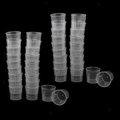 40pcs Graduated Beakers Measuring Cups Lab Liquid Container Paint Mixing Cup