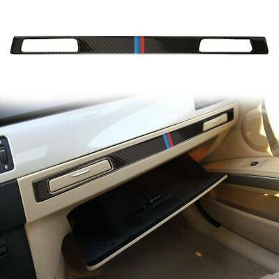 Copilot Holder Panel Trim Car Interior Sticker Carbon Fiber For BMW E90 E92 E93