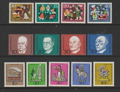 Germany (West) - 1964 & 1969 Relief Fund sets & 1968 Adenauer set - MNH