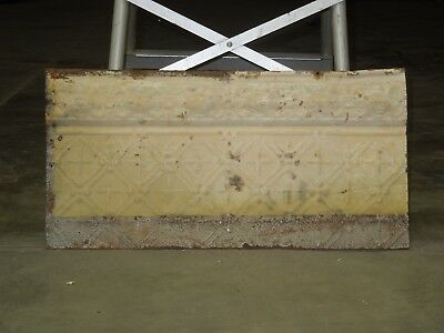 "Old Antique ( Metal ) tin ceiling tile / tiles craft 24""x 12"" filler"