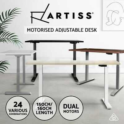 Artiss Height Adjustable Standing Desk Motorised Electric Laptop Computer Table
