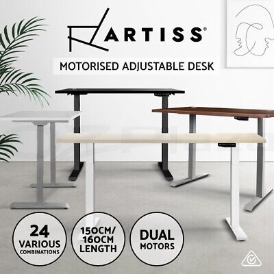 Artiss Standing Desk Motorised Height Adjustable Sit Stand Computer Table Riser