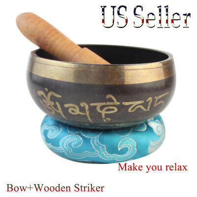 Antique Design Tibetan Nepal Singing Bowl for Meditation Relaxation Healing Gift