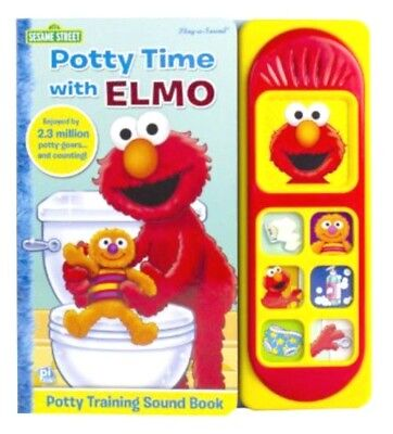 Potty Time with Elmo Potty Training Book Hardcover Play a Sound