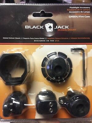 Blackjack Global Firefighter Helmet Flashlight/Cam System gm004/Fire Cam Mount