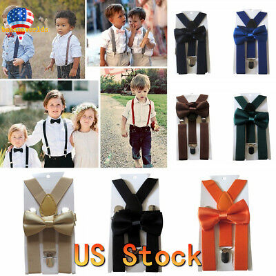 Cute Braces Suspender and Bow Tie Set for Toddler Baby Children Kids Boys Girls