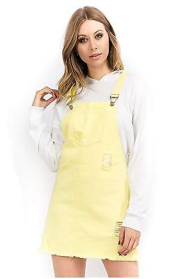 e028a31e383 TwiinSisters Women s Casual Denim Destroyed Overall Dress for Women Plus