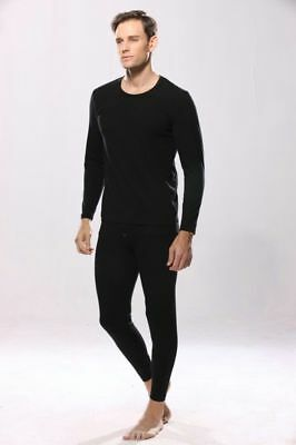 High Quality  Men 2 pc Thermal Set Long Johns Fleece Knit Top Bottom S M L