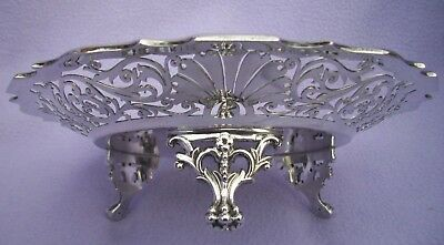 W&H EDWARDIAN SOLID SILVER FOOTED TRAY FOR CAKES etc - SHEFFIELD 1905 -  374g