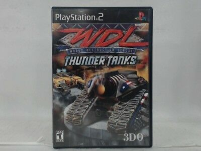 Wdl Thunder Tanks Playstation 2 Ps2 W/ Original Box Good