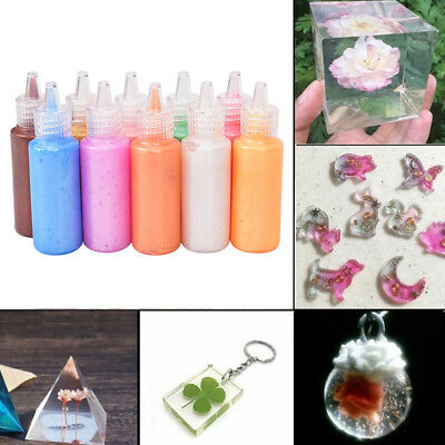 Epoxy UV Resin Dye Colorant Resin Pigment Mixed Color DIY Craft Jewelry Making L