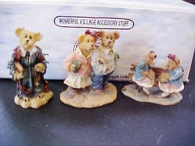 Boyds Bears Chapel in the Woods Village Accessory Set 19503-1