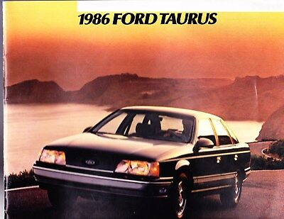 1986  Ford Taurus  Factory Original   Sales Brochure   40 Pages