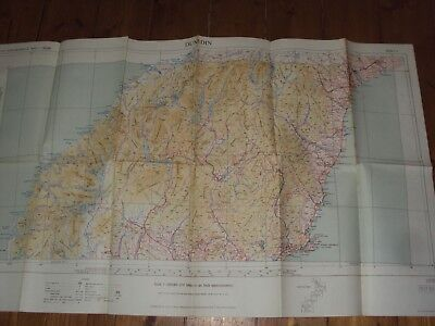 GEOGRAPHICAL MAP OF DUNEDIN - 1st EDITION 1949  - LARGE FOLD OUT