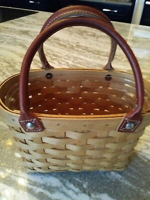 Longaberger Warm Brown Small Boardwalk Prot Basket Great Condition FREE SHIPPING