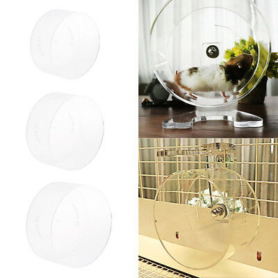 Acrylic Silent Hamster Wheel Pet Exercise Runner , Clear