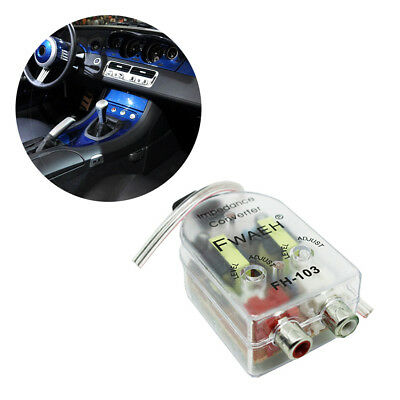 Car High To Low Impedance Converter Adapter Impedance Converter Speaker To Line