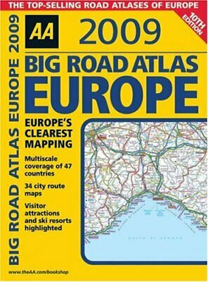 AA Big Road Atlas Europe (AA Atlases and Maps) by AA Publishing Spiral bound The
