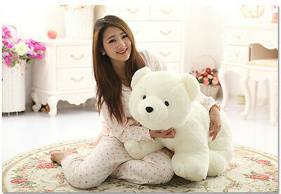 1pcs 60CM Big Plush Polar Bear Giant Large Stuffed Soft Plush Toy Doll Pillow A+