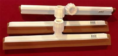 DOUBLE FOAM BLADE SQUEEGEE RED / WHITE 41455-00 6122-18 ~ LOT of 3