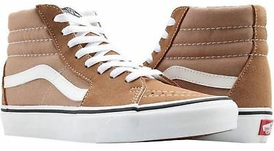 a96ddbec9e0c Vans Sk8-HI SKATE Shoes Men s Size 7 WOMEN S 8.5 TIGER S EYE   WHITE