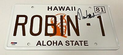 BAS COA Tom Selleck Signed Magnum P.I License Plate Beckett Authentication