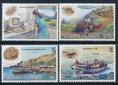 2000 Pitcairn Island Millenium Part Iii: Communications Set Of 4 Fine Mint Mnh