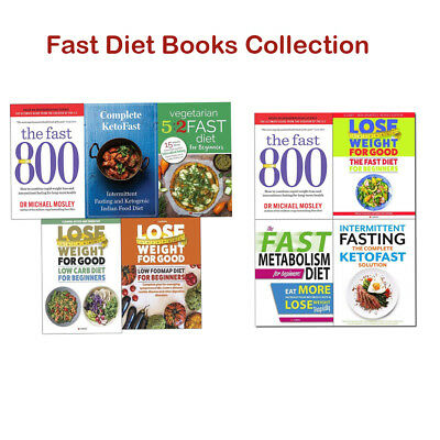 Fast Diet Recipes Books Collection Set 800 Michael Mosley Metabolism Diet NEW