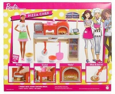 Mattel - Barbie - Cooking & Baking Pizza Making Doll & Accessory,African America