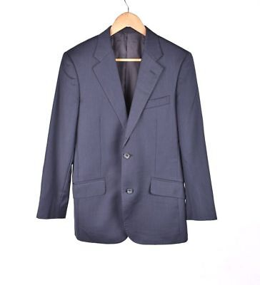 TM Lewin Super 110's Merino Wool Men Navy Grey Jacket Blazer Size 36R EU46