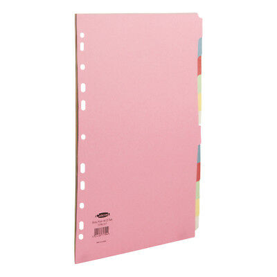 Concord Punched Pocket Subject Dividers Extra Wide 12-Part A4 Assorted Ref 71799