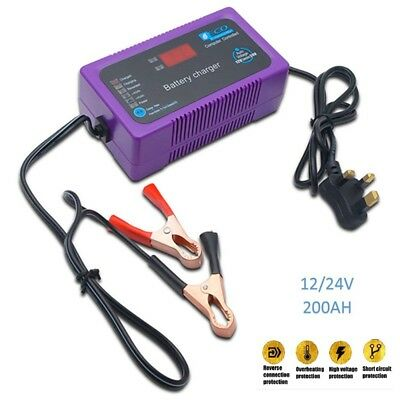 12/24V 200AH Electric Car Dry&wet Battery Charger Intelligent Pulse Repair