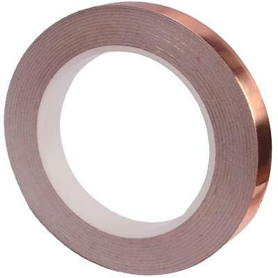 UK 20m Adhesive Electric Conduction Copper Foil Tape Strip Home Decoration Tools