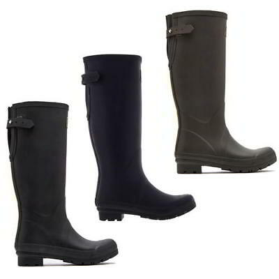 Joules Field Welly Womens Wellies Tall Red Rubber Wellington Boots Size 4-8