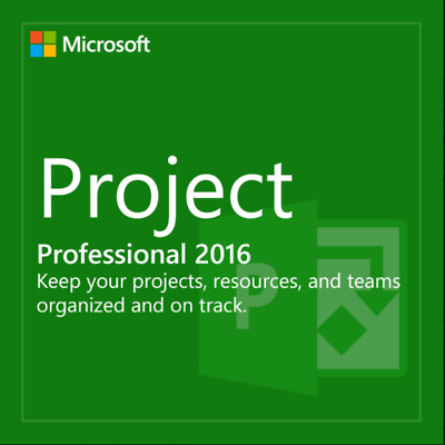 Microsoft Project 2016 Professional 32/64 Bit 1PC Product Activation Key